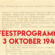 Een satirisch feestprogramma voor 3 oktober