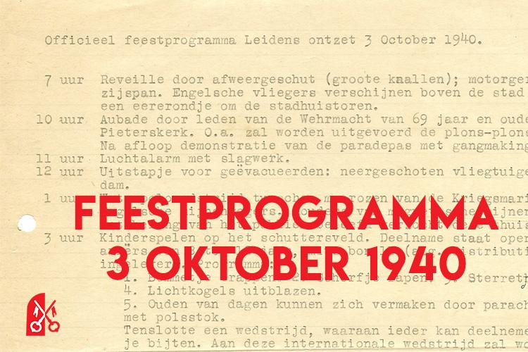 Feestprogramma voor 3 oktober 1940