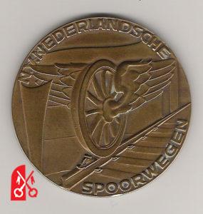 Spoorwegpenning in brons