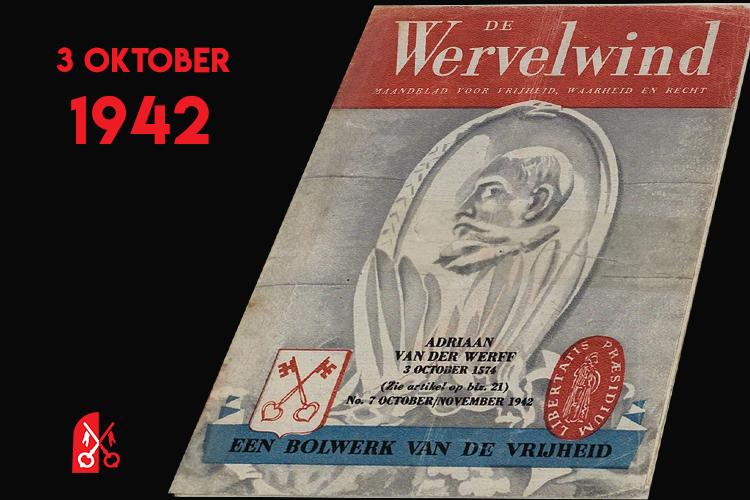 Omslag van De Wervelwind nr 7 over Leiden