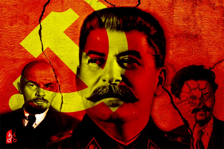 communisten stalin lenin trotski