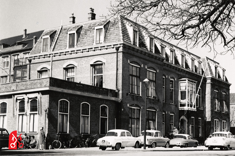 Het diaconessenhuis in 1962 kort voor de sloop