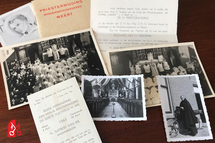 Eerste H. mis in de Meerburgkerk 1943