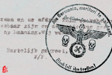 Stempelactie morituri te salutant 1945