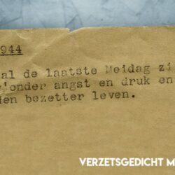 Verzetsgedicht uit mei 1944