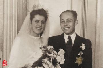 Trrouwfoto Richard en Reizla Silberberg-Goldstein